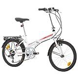 Klapprad Faltrad Fahrrad Bikesport FOLDING 20 Zoll Shimano 6 GANG (Weiß)