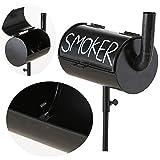 LS-LebenStil Standaschenbecher BBQ Smoker mit Erdspieß Sturmaschenbecher Windaschenbecher