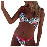 DNOQN Frauen Sexy Hochdrücken Bikini Liner BH Baden Passen Badeanzug Strand Badebekleidung