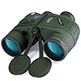 10x50 Marine Fernglas,Fernglas mit Nachtsicht Entfernungsmesser und Kompass, für...