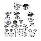 NaiCasy Beschaffung von Produkten aus rostfreiem Stahl Kinderküche Spielzeug, Küchenrollenspiel...