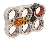 Malerkrepp 6 Rollen Breite abklebeband Maler 48mm à 30m mit Abroller Abklebeband randstabil leicht...