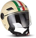 """MOTOHelmets® U52 """"Venice Creme"""" · Jet-Helm · Motorrad-Helm Roller-Helm Scooter-Helm Bobber..."""