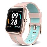 BYTTRON Smartwatch Herren Damen, 1.3' Touchscreen 5 ATM wasserdichte Fitness Tracker Built-in GPS...