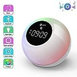Lichtwecker mit Bluetooth Lautsprecher, Wake up Light Aufladbar Wecker, 7 Naturtnen, Touch Control,...