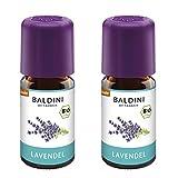 Baldini Lavendelöl BIO, 100% naturreines ätherisches BIO Lavendel Öl fein, Bio Aroma, 2 x 5 ml