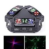 DELIBANG Mini Moving Head Spinne Bühne Beam Licht mit 9 * 10 W RGB-LED Bühnenlicht mit DMX512 und...