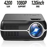 DOOK Performance Beamer, 4200 Lumen Full HD Beamer, Native 1080P(1280 x 800) Video Beamer Heimkino...
