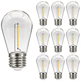 MZYOYO 10er Pack S14 E27 LED Edison Glühbirne,1W LED für S14 LED Lichterketten, Vintage Filament...