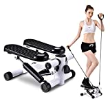 ZXYSR Swing Stepper Inklusive Trainingsbändern/Hometrainer Stepper Mit Kabellosem Trainingscomputer...