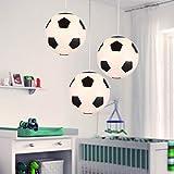 LED Deckenleuchte, Fußball Kronleuchter, Entwickelt für Fußballfans, Schlafzimmer Lampen, Weiß +...