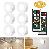iKALULA Schrankleuchten LED mit Fernbedienung, Schrank Lichter 6 Stck Schrankbeleuchtung LED...