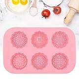 6 Hohlräume Seifenformen, runde Silikonformen zum Backen von Mooncake-Eis