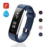 Lintelek Fitness Armband Aktivitätstracker IP67 Wasserdicht Schrittzähler Armbanduhr Smartwatch,...