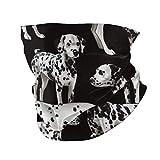 N / A Scarf Headband,Dalmatiner Fat Quarter Dogs Haustiere Winddichter Gesichtsschutz, Lustige...