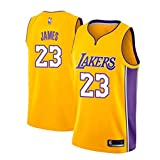 Lebron James Trikot, NO.23 Retro Lakers, Basketballspieler-Trikot, Atmungsaktive Und Abriebfeste...