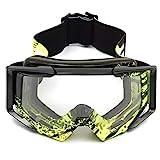 Maske Schild Motocross Helm Brille Sport Skifahren Winddichte Brillen for Motorrad Geländewagen...