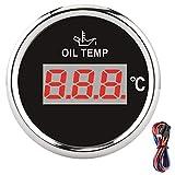 Heizöltemperaturanzeige, universelle digitale Öltemperaturanzeige 52 mm 50-150 ℃ W/rote...