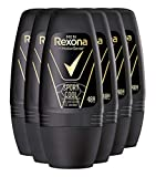 Rexona Men 6 x Deo Roll-On Sport Cool Anti-Transpirant für Herren, 6er Pack (6 x 50 ml)