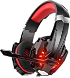 DIZA100 Gaming Headset for PS4 Xbox One PC, Gaming Headphones with Microphone, LED Light Bass...