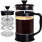 [1 Liter/ 1000 ml] Kaffeebereiter mit Edelstahl Filter - French Press Kaffeemaschine - Französische...