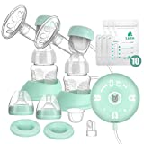 Lictin Elektrische Milchpumpe Smart Silikon Wiederaufladbare Brustpumpe Doppel Muttermilch Abpumpen...