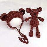 LHYhengl Grateful Newborn Foto Bär Cub Styling Cap Cute Wool Knit Baby Hat Cub Toy