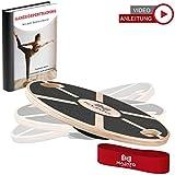 NAJATO Sports Balance Board aus Holz – Mit rutschfestem gummiertem Standfuß – Wackelbrett mit...