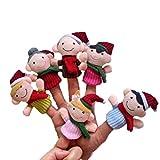 Huemny Fingerpuppen für Familie, Weihnachtsgeschichte, Plüschpuppe, Stoffspielzeug, Geschenk für...
