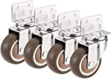 Ldwxxx 4pcs Typ L Swivel Caster Montageplatte Gummiband Brems Bearing Universal-Möbelteile (Color :...