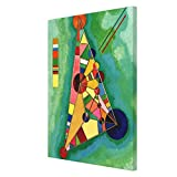 Lplpol Kandinsky - Multicolored Triangle Canvas Print for Wall Art Decoration Wooden Framed (8 X 10...
