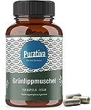 Grünlippmuschel 150 Kapseln - 1650 mg Grünlippmuschelpulver pro Tagesdosis - hochdosiert - GAG und...