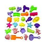 LIOOBO 27 Stücke Strand Sandspielzeug Set mit Meerestier Schaufel Strandspielzeug...