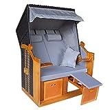 Hoberg 2-Sitzer-Strandkorb (Ostsee), 120x80x160 cm, 5 Liegestufen einstellbar, Rollen mit...