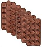 Leslady Silikon Schokoladenform, 6 Stück Silikonform Bonbonform Süßigkeiten Formen Backformen...