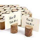 ToPicks 20 Stück Tischkartenhalter Holz, Fotohalter Platzkartenhalter Tischkartenhalter Rustikale...