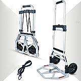 MIZE Aluminiumlegierung Einkauf Trolleys Tragbar Leichtgängige Räder mit Soft-Laufflächen und bis...