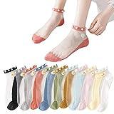 JSSEVN 10 Paar Damen Socken Feinstrümpfe Damen Seidenstrümpfe Atmungsaktive Transparente...