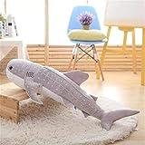 N / A Hai Plüschtier Big Fish Stoff Puppe Wal Gefüllte Plüschtiere Puppe Kinder Geburtstag 55 cm