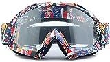 Motorrad-Motorrad-Schutzbrille Einstellbare Persönlichkeit Kalt Beweis Muster UV-Schutz...