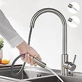 BONADE Küchenarmatur Ausziehbare 360° Schwenkbar Spültischarmatur mit Brause Edelstahl Wasserhahn...