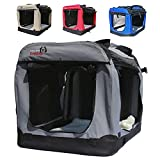 Dogidogs Faltbare Hundebox - Transportbox für Hunde Hundebox Auto - Dogi Kennel - 6 Größen, 4...