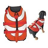Olgaa Hundeschwimmweste für den Sommer, Schwimmweste mit hervorragendem Auftrieb und Rettungsgriff...