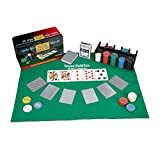 Relaxdays Pokerset, 200 Chips, Spielmatte, 2 Kartendecks, Dealerbutton, Blindbuttons,...