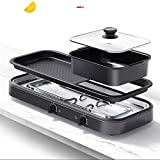 BBQ Grill Und Hot Pot, Multi-Funktions-Barbecue Hot Pot Doppel Pot Elektrogrill Startseite Elektro...