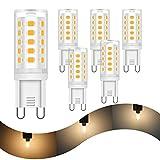 6x G9 LED Dimmbar Lampen HOMEOW Warmweiß 2700K LED Glühbirne 5W Stiftsockellampe Ersatz 40W...