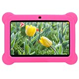 Kinder Tablet 7 Zoll HD Touchscreen Kindertablette Tablet für Kinder ab 5 Jahre, 1GB RAM+8GB ROM,...
