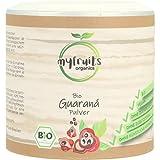 myfruits® Bio Guarana Pulver - ohne Zusätze, zu 100% aus Guarana-Samen - natürliche...