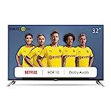 CHiQ L32H7N 80cm Fernseher 32 Zoll Smart TV HD LED Fernseher, Triple Tuner, HDMI, Prime Video,...