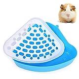Bebester Haustiertoilette, Haustiertoilette, Ecktoilette für Kleintiere, Hamster, Chinchilla,...